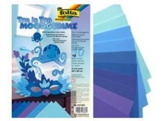 Arkusze piankowe mix niebieski, 20x29cm, 10 ark, Folia [opak
