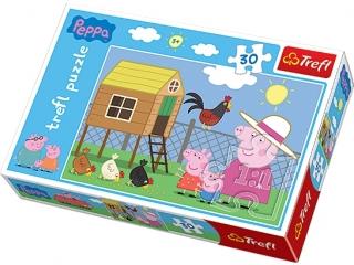"""Puzzle """"30 Wizyta w kurniku"""" / Peppa Pig"""