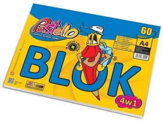 Blok 4 w 1 A4 60 kartek [opakowanie=5szt]