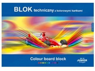 Blok Junior techniczny kolorowy A4-10 [opakowanie=10szt]