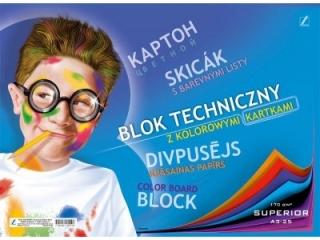 Blok Superior techniczny kolorowy A4-25 [opakowanie=10szt]