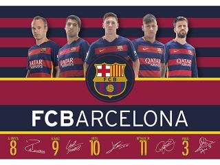PODK£ADKA NA BIURKO FC-119 FC BARCELONA BARCA FAN 4 (pB)