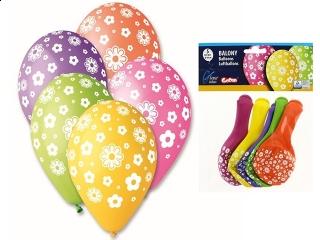 """Balony Premium """"Kwiatuszki"""", 12""""/ 5 szt."""