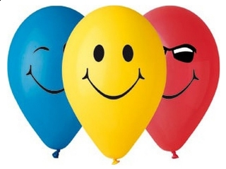 """Balony Premium """"3 U¶miechy"""", 12"""" / 5 szt."""