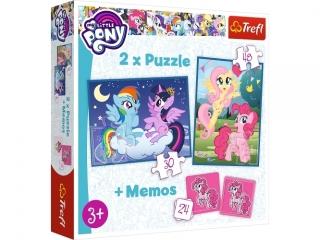 """Puzzle 2w1+memos Przyja¼ñ to magia"""" / Hasbro, My Little Pony"""