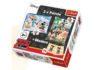 """""""Puzzle 2w1+memos Frajda z przyjació³mi """" / Disney Mickey Mo"""