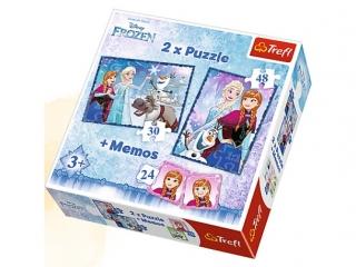 """Puzzle 2w1 + memos Siostry "" / Disney Frozen"