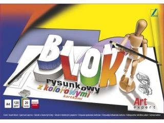Blok rysunkowy z kol.kartami Art Expert A4-20 120 g/m2 [opak