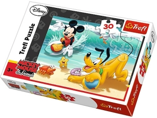 "Puzzle ""30 Miki i Pluto na pla¿y"" / Disney Standard Characte"