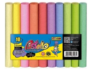 Bibu³a PASTELOWA MINI MINI 12x200 cm mix 10 kolorów PAS-3399