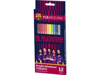 Kredki o³ówkowe 12 kolorów FC-214 FC Barcelona Barca Fan 06