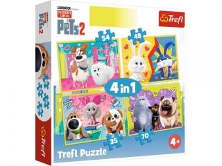 """Puzzle """"4w1"""" - Sekretne ¿ycie zwierz±t / Universal Secret Li"""