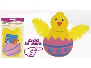 Dekoracje wielkanocne kurczaczek w jajeczku