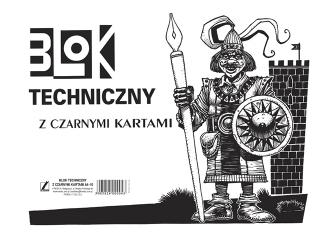 Blok techniczny z czarnymi kartkami A4-10 [opakowanie=10szt]
