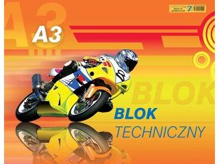 Blok techniczny A3-10 250g[opakowanie=10szt]