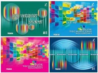 Blok Premium techniczny kolorowy A3-15[opakowanie=10szt]