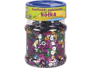 Confetti cekinowe kó³ka - mix kolorów 100g [opakowanie=6szt]