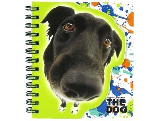 NOTES KSZTA£TOWY SPIRALNY THE DOG [opakowanie=10szt]