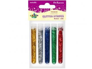 BROKAT NITKI METALICZNY w fiolkach blister 5 kolorów x 2gBnm