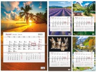 2022 Kalendarz Jednodzielny