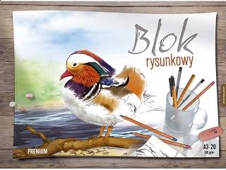 Blok rysunkowy kolorowy Premium A4-30 [opakowanie=10szt]