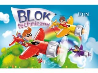 Blok Fun techniczny A4-10 [opakowanie=10szt]