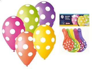 "Balony Premium ""Grochy"", 12""/ 5 szt."