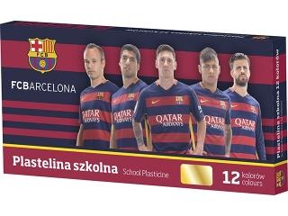Plastelina szkolna 12 kolorów - FC Barcelona [opakowanie=5sz