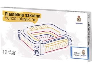 Plastelina szkolna 12 kolorów - Real Madryt [opakowanie=5szt] (as)