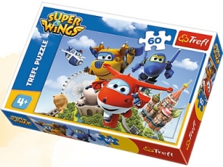 "Puzzle ""60 elementów Lot dooko³a ¶wiata / CJ ExM Super Wings"