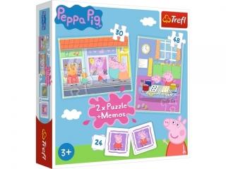 """Puzzle 2w1+memos Dzieñ Peppy"""" / Peppa Pig"""