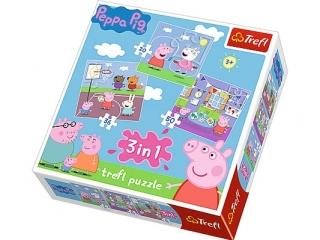 """Puzzle """"3w1 Zabawy w szkole"""" / Peppa Pig"""