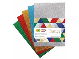 Arkusze piankowe MIX Metallic, A4, 5 ark., 5 kolorów, Happy