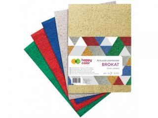 Arkusze piankowe MIX Brokat, A4, 5 ark., 5 kolorów, Happy Co