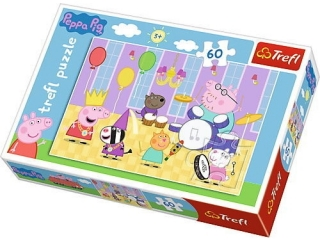 """Puzzle """"60 -¦winka Peppa na balu / Peppa Pig"""