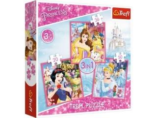 """Puzzle """"3w1 Zaczarowany ¶wiat ksiê¿niczek / Disney Princess"""