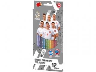 Kredki o³ówkowe 12 kolorów PZ-011 PZPN 2