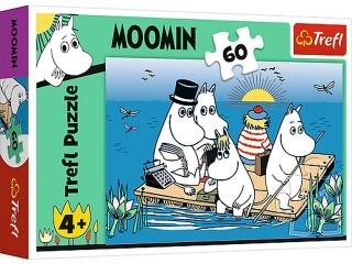 """Puzzle """"60"""" Muminki nad jeziorem."""