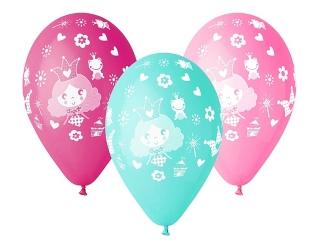 """Balony Premium """"Ksiê¿niczka"""", nad. 1 kolor, 12"""" / 5 szt."""