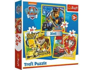"Puzzle ""3w1 Marshall, Rubble i Chase""  / Viacom PAW Patrol"