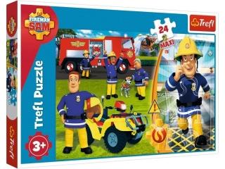 """Puzzle """"24 Maxi"""" - Dzielny Stra¿ak Sam / Prism AxD Fireman S"""