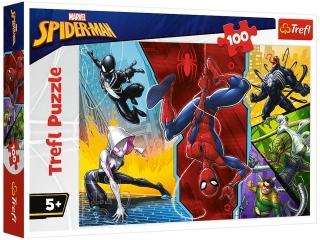 "Puzzle 16347 - ""100"" - Do góry nogami / Disney Marvel Spiderman"