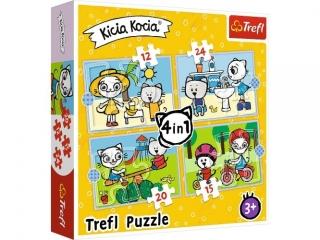 """Puzzle """"4w1"""" Dzieñ Kici Koci"""