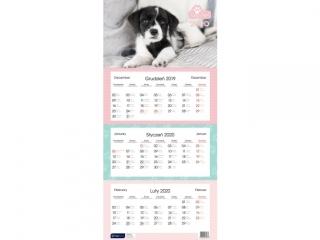 Kalendarz trójdzielny Psy [opakowanie=5szt]