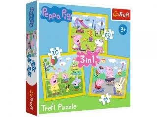 "Puzzle ""3w1"" - Weso³y dzieñ Peppy / Peppa Pig"