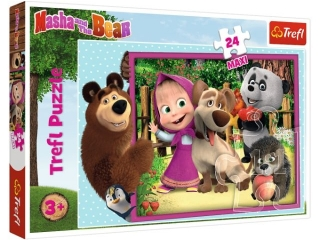 "Puzzle ""24 Maxi"" - Masza i Nied¼wied¼ / Animaccord Masha and"