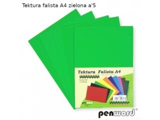 TEKTURA FALISTA A4 ZIELONA a5
