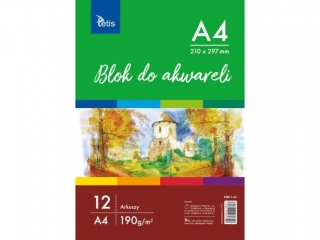 BLOK DO AKWARELI A4, 190 g/m2, 12 ARK. PR2019
