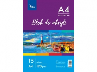 BLOK DO AKRYLI A4, 190 g/m2, 15 ARK. PR2019