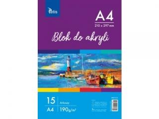 BLOK DO AKRYLI A4, 190 g/m2, 15 ARK. PR2019